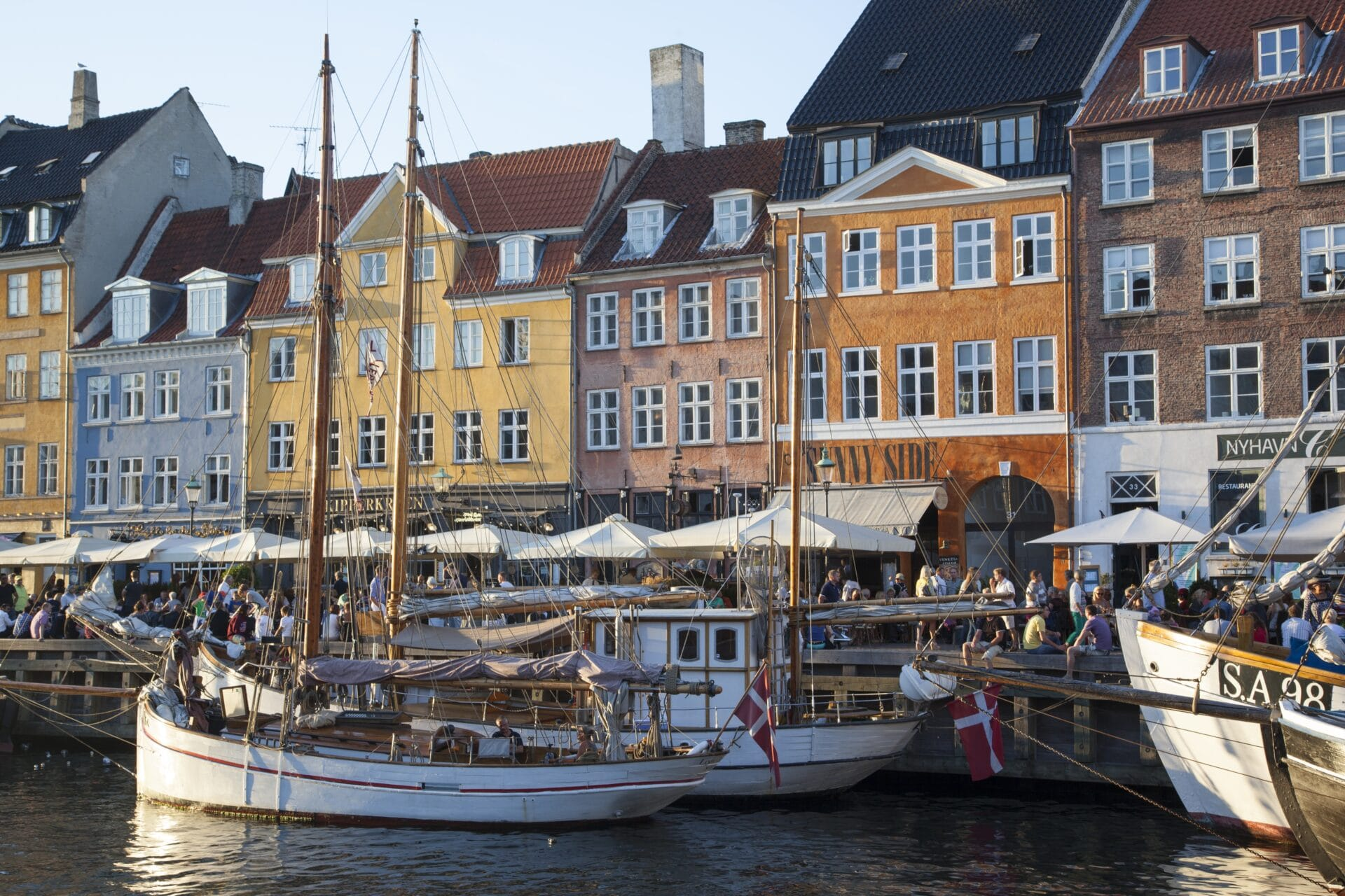 Copenhagen fishing boats in Nyhavn